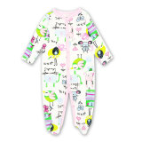 Long Sleeve Baby Clothes Cartoon Footed Baby Rompers