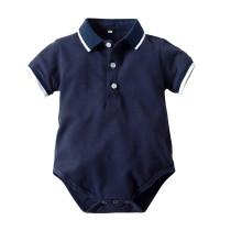 Summer New Short Sleeve Baby Boy Polo Shirt Cotton Bodysuit