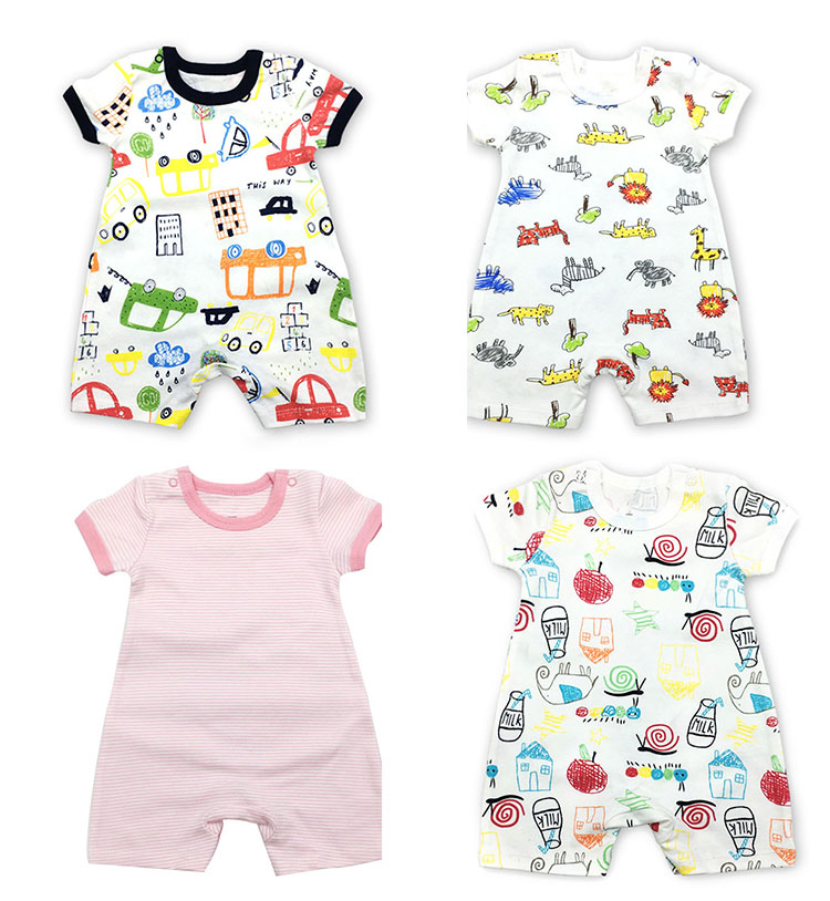 summer baby rompers, cotton baby clothes