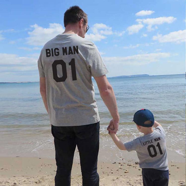 letter printed t-shirt, parent-child t-shirt, parent-child wear
