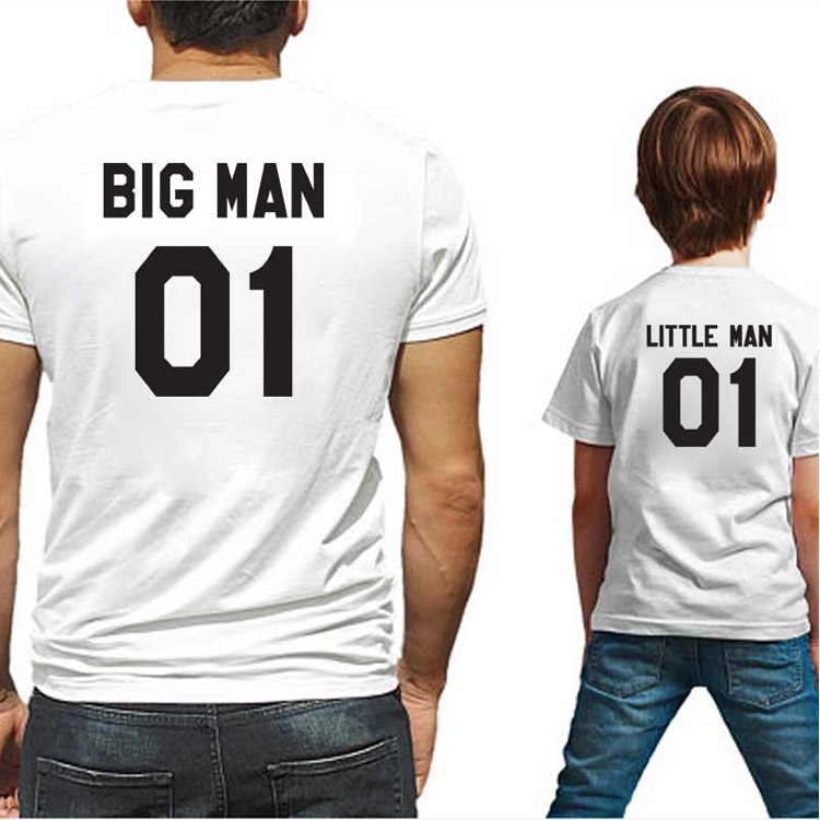 Summer Father And Son Parent-Child Wear With Short-Sleeved T-Shirt