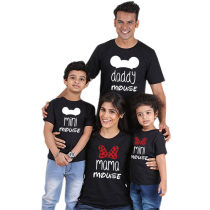 Fashion Printed Parent-Child Wear Summer Family Short Sleeve T-Shirt