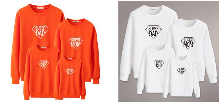 superman style sweatshirt, parent-child clothing