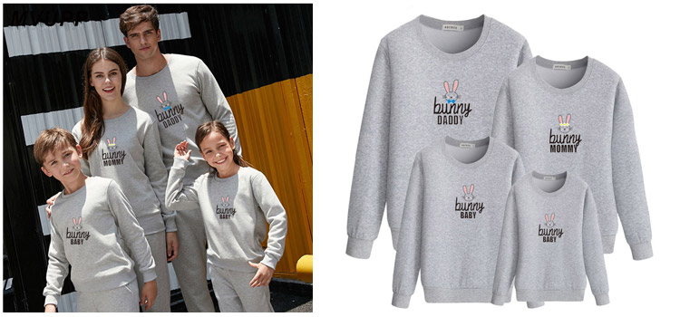 parent-child sweatshirt, parent-child wear
