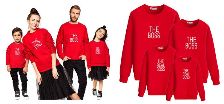 parent-child sweatshirt, parent-child wear