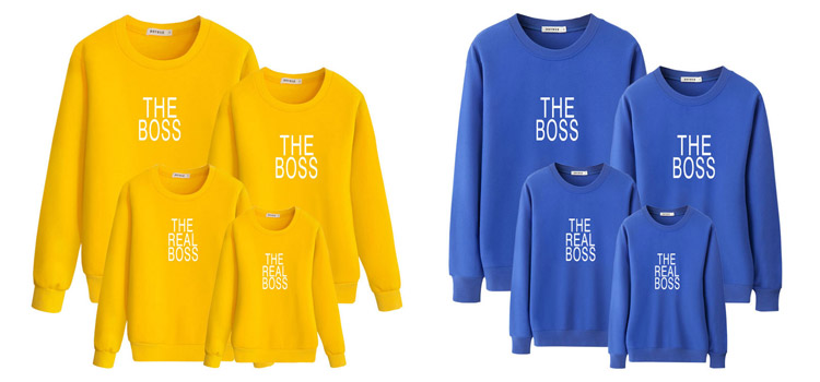 letter printing sweatshirt, parent-child clothing