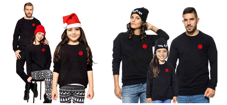 Fashion Printed Long Sleeve Sweatshirt Parent-Child Wear