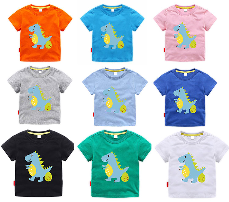 boys printed t-shirt, kids summer clothes