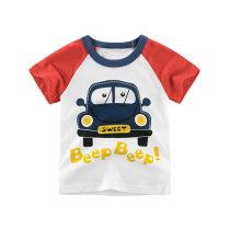Pure Cotton Kids Summer Wear Cartoon Printed Boys T-Shirt