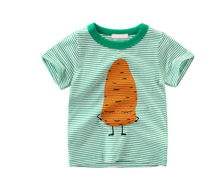 Hot Sale Kids Striped Shirt Pure Cotton Children T-Shirt