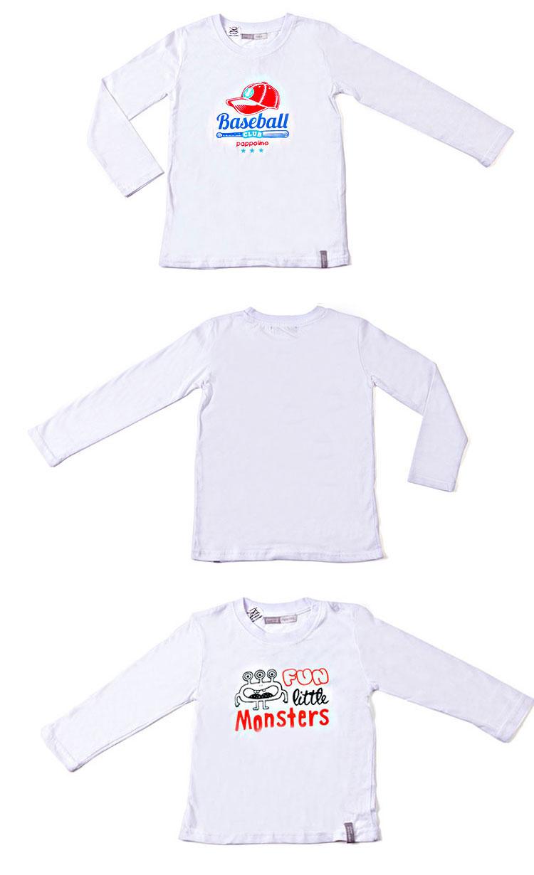 Cheap Children Clothes Printed Long Sleeve Boys T-Shirt