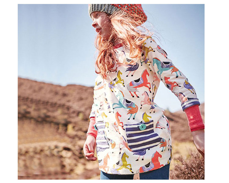 Long Sleeve Children Dress Printed Kids Girls Frock