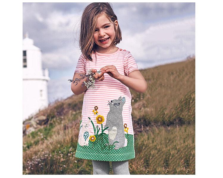 kid cotton dress, summer girls dress
