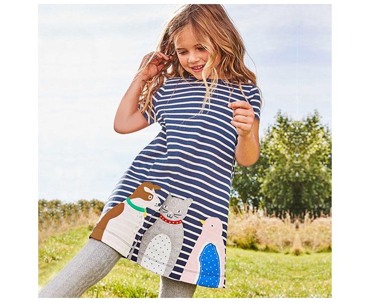 New Style Kids Skirt Summer Cartoon Girls Dress