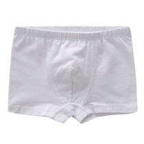 Pure Cotton White Boys Boxer Briefs Kids Underwear