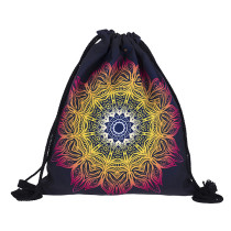 Printed Drawstring Shopping Bags Backpack Polyester Drawstring Bag