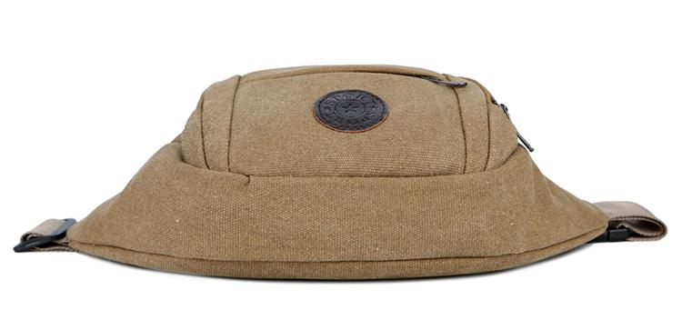 Canvas Belt Bag Fanny Pack Quality Men Waist Bag