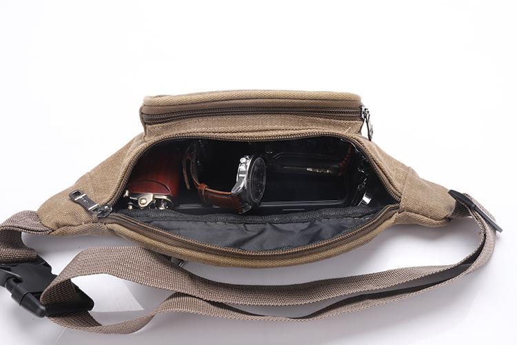 Quality Canvas Fanny Pack Sport Waist Bag For Men