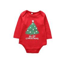 Newborn Baby Long Sleeve Onesie Outfits Christmas Romper