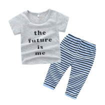 Summer Boys Clothes Short Sleeve Baby Clothing Set