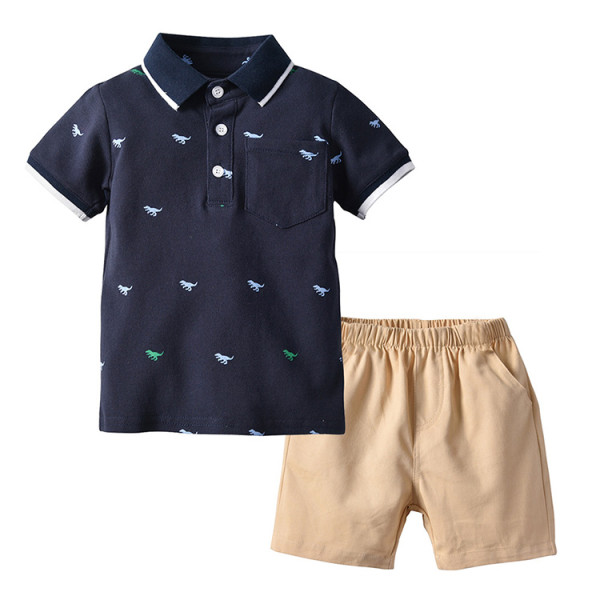 Polo Shirt Kids Summer Clothes Boutique Clothing Set For Boys