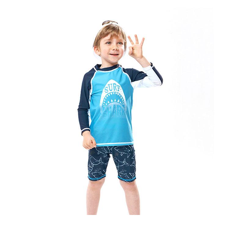 100% Nylon Kids Summer Swimwear Two Pieces Boys Bathing Suit