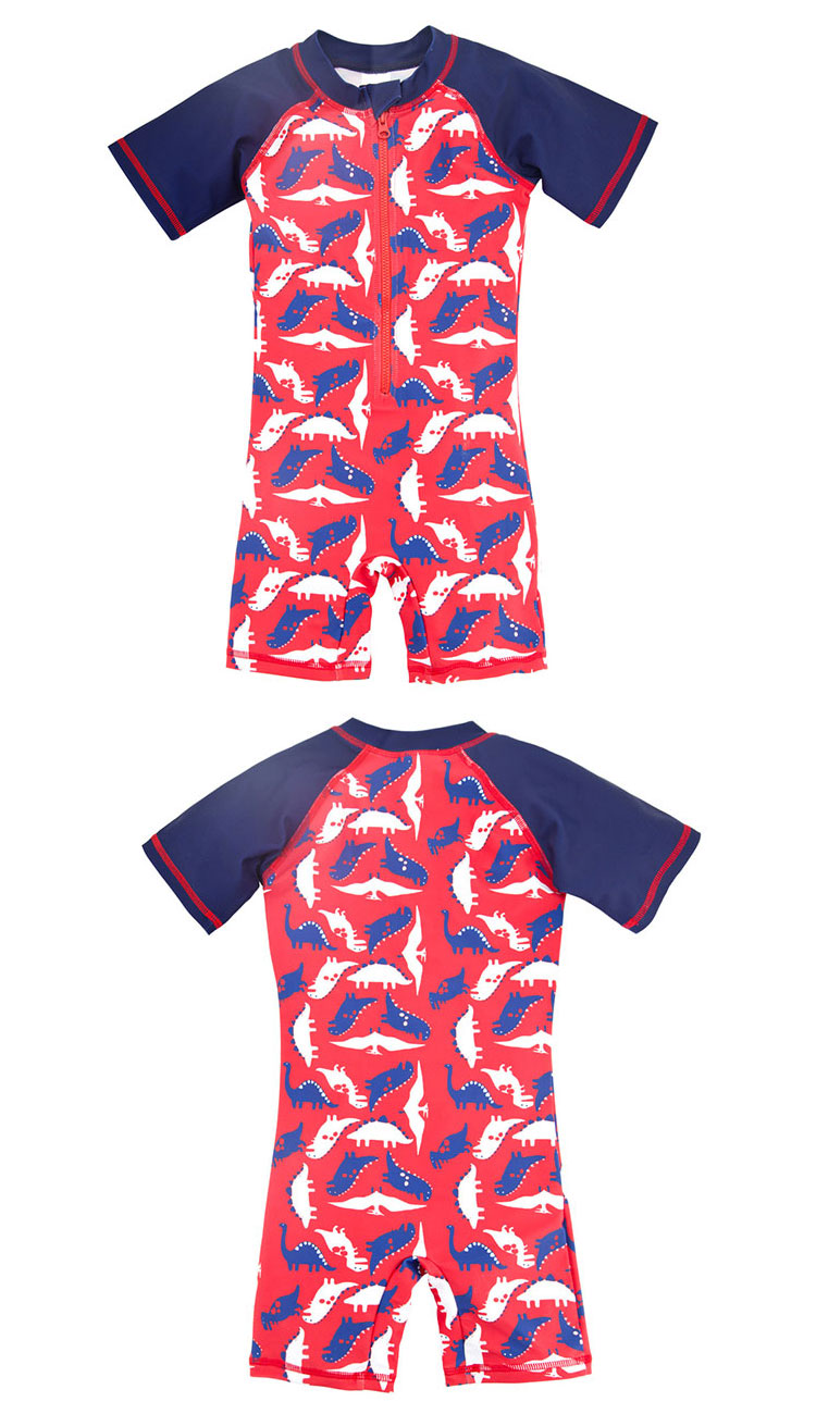 High Quality Children Swimwear One-Piece Boys Swimsuit
