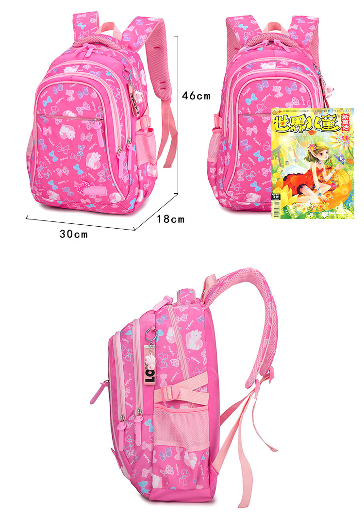 New Style Kids Backpack 3 Pcs Set Nylon School Bags For Girls