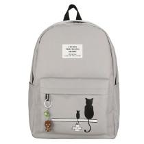 Canvas Girls School Bag Printed Children Backpack