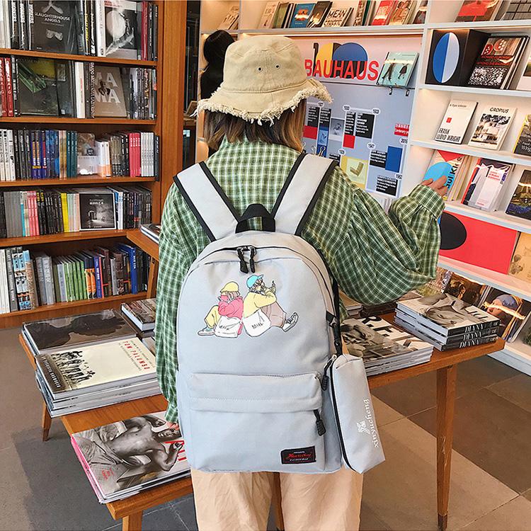 school bag, canvas school bag, canvas backpack