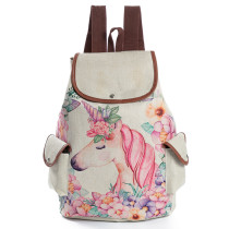 New Style Fashion College Backpack Unicorn Girls Children School Bag