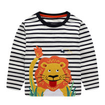 Boutique Kids Clothing Stripes Pure Cotton Long Sleeve Boys T-Shirt