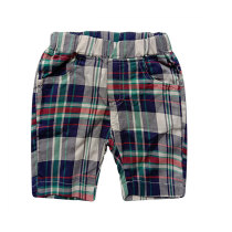 Summer Little Boys Clothing Plaid Children Shorts