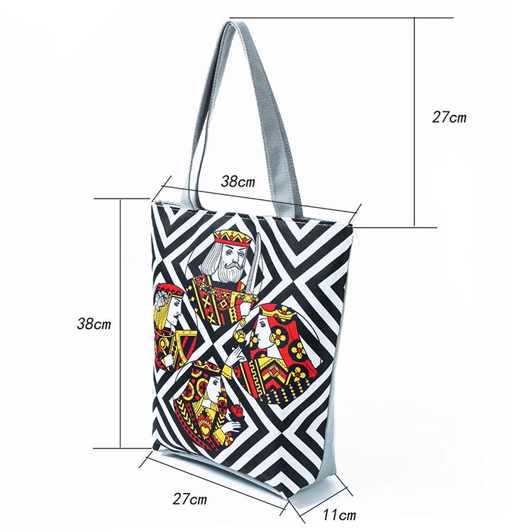 Cheap Women Handbags Poker Printing Shoulder Bag