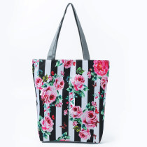Floral Printing Ladies Handbags Canvas Shoulder Bags For Women