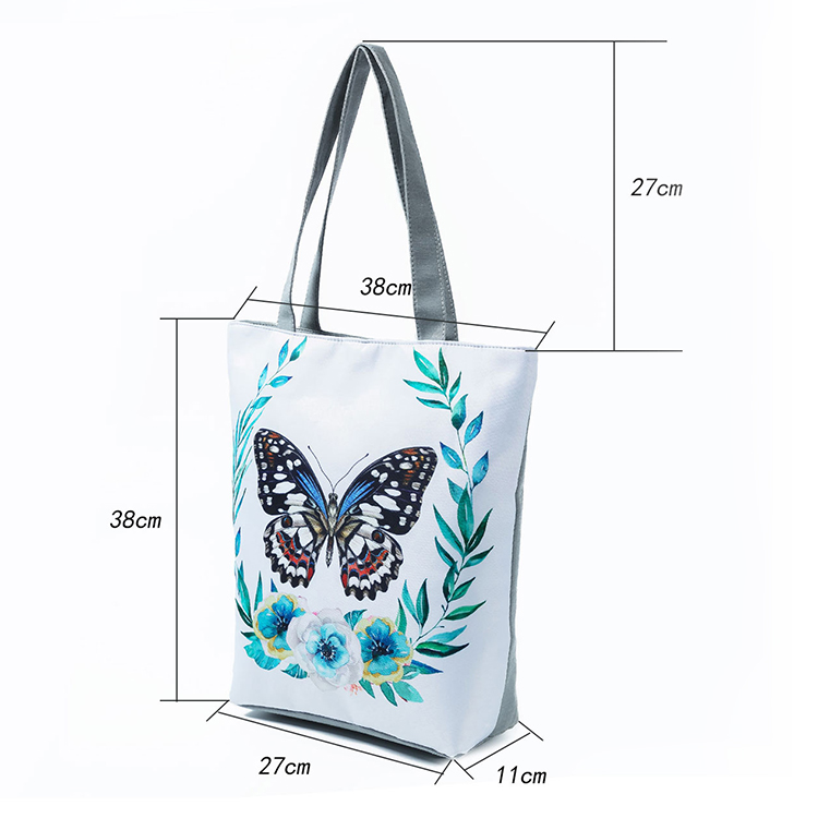 Fashion Printing Shoulder Bag Ladies Canvas Casual Handbags