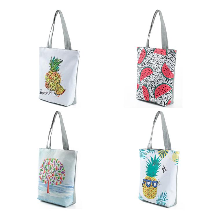 Quality Canvas Foldable Shopping Bag Fashion Women Handbag