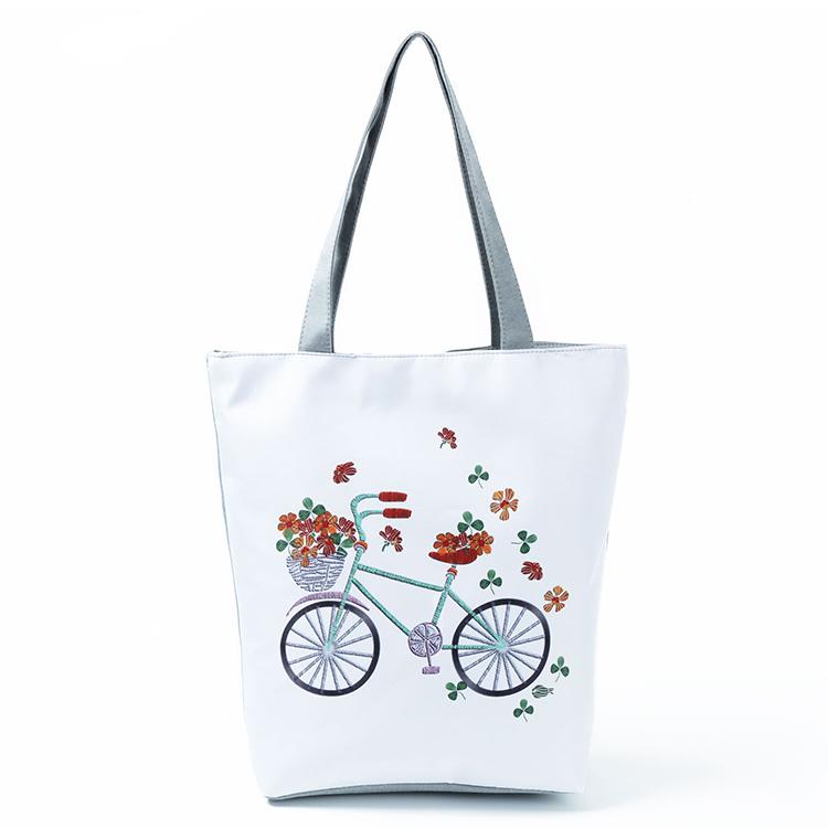 Fashion Printing Shoulder Bag Ladies Canvas Casual Handbags
