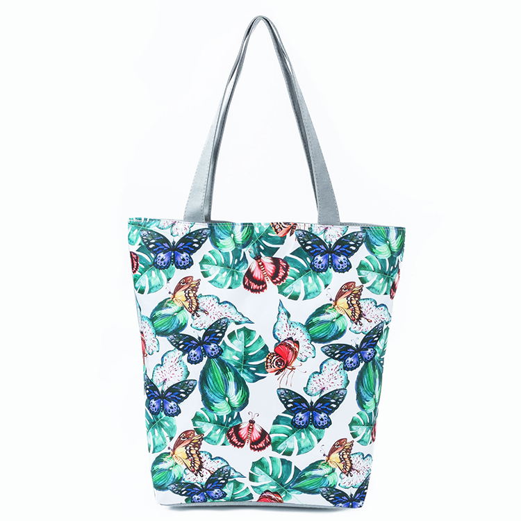 floral handbag, women handbag, eco friendly tote bags, canvas shopping bag