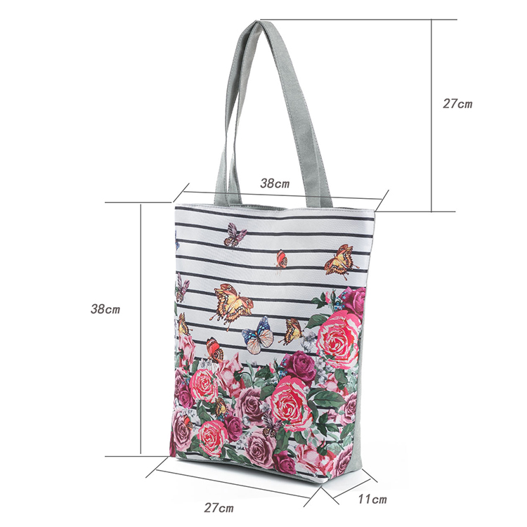 Fashion Printed Shopping Bags Flower Women Handbag