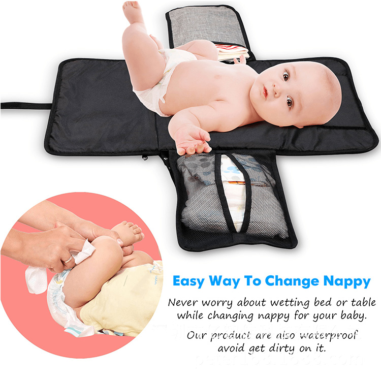 baby changing bag, baby diaper bag, waterproof baby diaper mat, portable diaper pad, baby changing mat