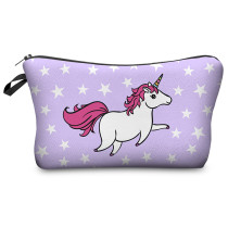 Unicorn Print Cosmetic Bags Eco Friendly Toiletry Bag For Makeup
