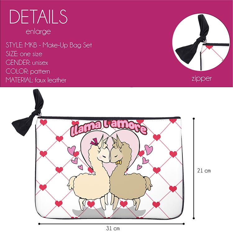 Cute Design Travel Toiletry Bags Private Label Makeup Bags
