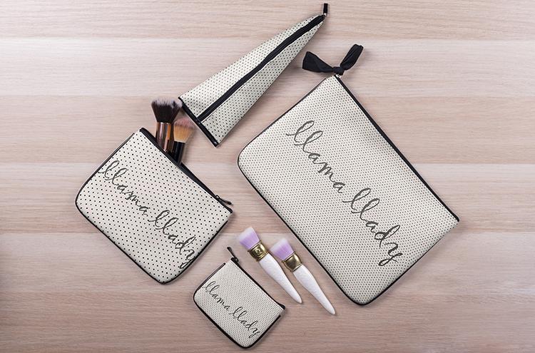 Fashion Printing 4 Pcs Women Cosmetic Bag Sets Travel Toiletry Bag