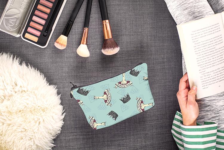 Alpaca Printing Makeup Bags Zipper Pouch Bag Cosmetic Bags