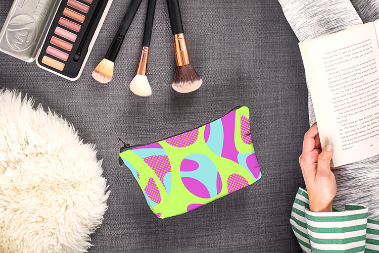 Ladies Cosmetic Pouch Printing Travel Makeup Bag