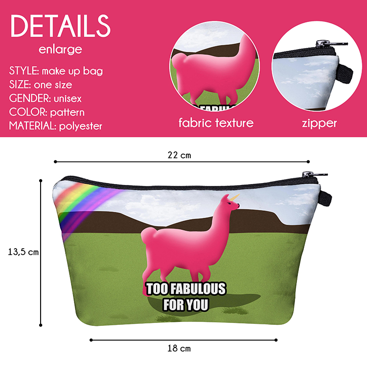 Fashion Printed Travel Cosmetic Bag Makeup Organizer