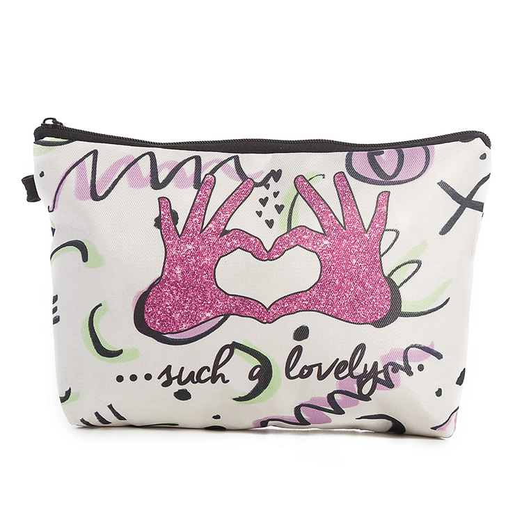 Trendy Print Toiletry Bag Women Cosmetic Makeup Bag