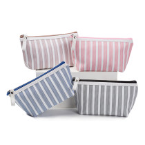 Eco Friendly Makeup Bags Classic Stripe Cosmetic Pouch