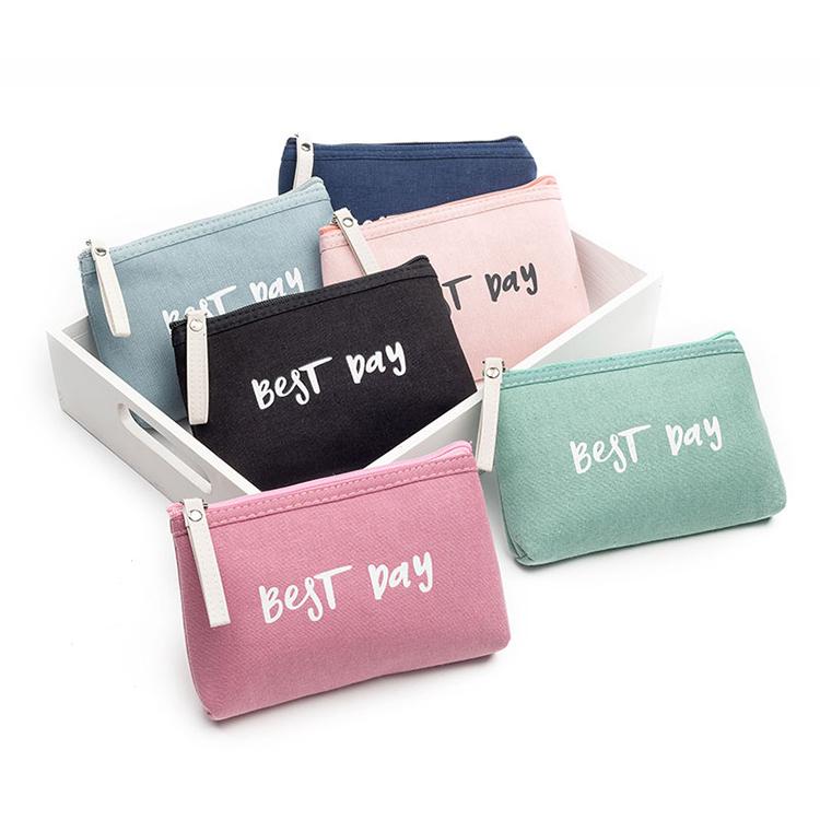 Women Cosmetic Bag Fashion Canvas Makeup Pouch Bag